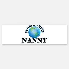 World's Best Nanny Bumper Bumper Bumper Sticker