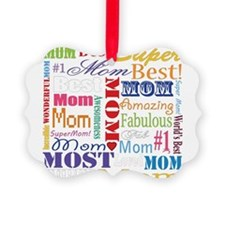 Text Mom Ornament