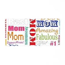 Text Mom Aluminum License Plate