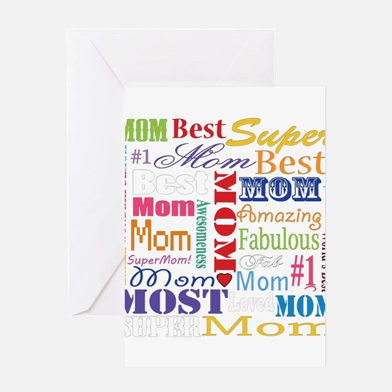 Text Mom Greeting Cards