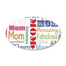 Text Mom Wall Decal