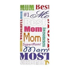 Text Mom Beach Towel