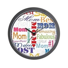 Text Mom Wall Clock