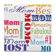 Text Mom Tile Coaster
