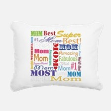 Text Mom Rectangular Canvas Pillow