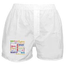 Text Mom Boxer Shorts