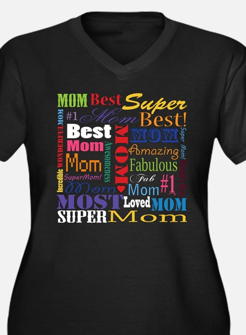Text Mom Plus Size T-Shirt