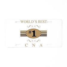 World's Best CNA Aluminum License Plate