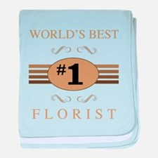 World's Best Florist baby blanket