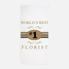 World's Best Florist Beach Towel