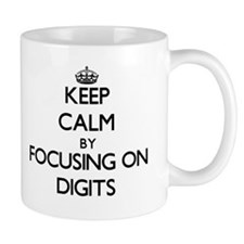 Keep Calm by focusing on Digits Mugs