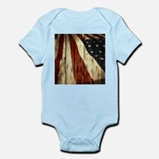 grunge USA flag Body Suit