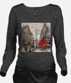 vintage eiffel tower Long Sleeve Maternity T-Shirt