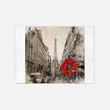 vintage eiffel tower paris art 5'x7'Area Rug