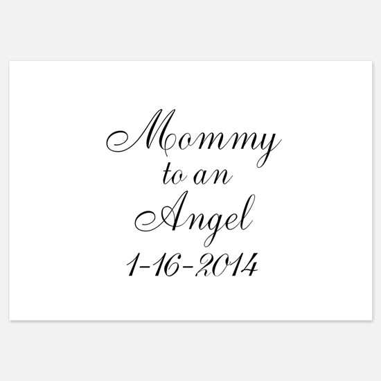Personalizable Mommy to an Angel Invitations