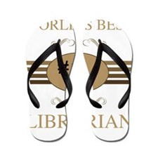 World's Best Librarian Flip Flops