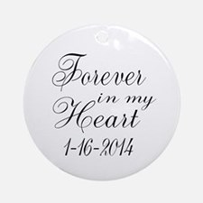 Forever in my Heart Ornament (Round)