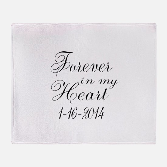 Forever in my Heart Throw Blanket