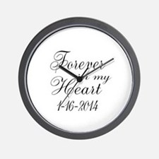 Forever in my Heart Wall Clock