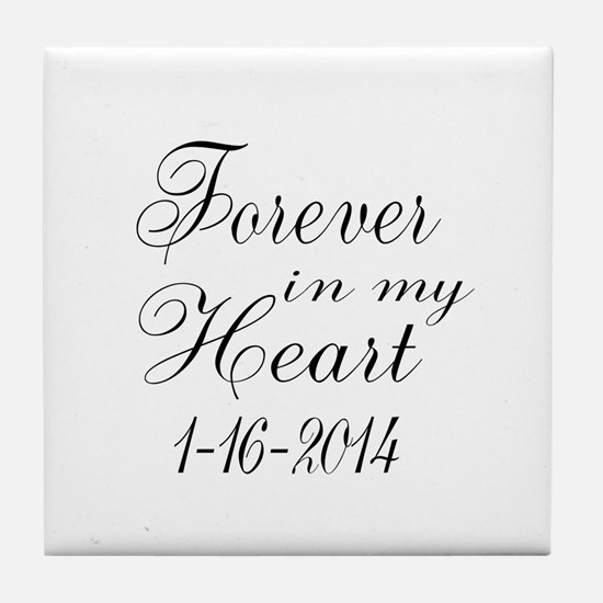 Forever in my Heart Tile Coaster