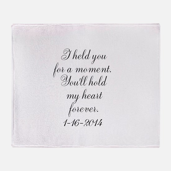 Personalizable For a Moment Throw Blanket