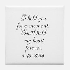 Personalizable For a Moment Tile Coaster