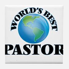 World's Best Pastor Tile Coaster