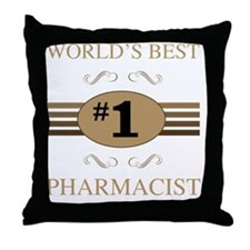 World's Best Pharmacist Throw Pillow