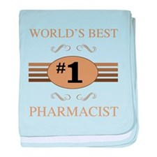 World's Best Pharmacist baby blanket