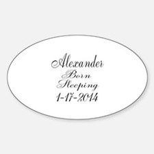 Personalizable Born Sleeping Decal