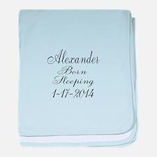 Personalizable Born Sleeping baby blanket