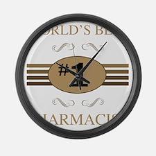 World's Best Pharmacist Large Wall Clock