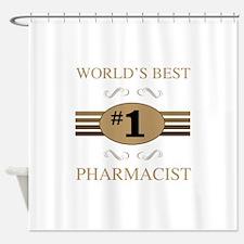 World's Best Pharmacist Shower Curtain