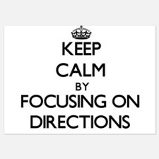 Keep Calm by focusing on Directions Invitations