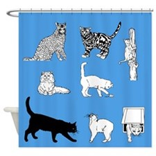 Cat Lovers Shower Curtain