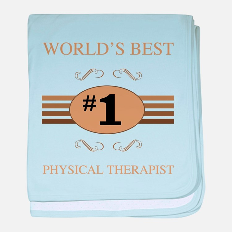World's Best Physical Therapist baby blanket