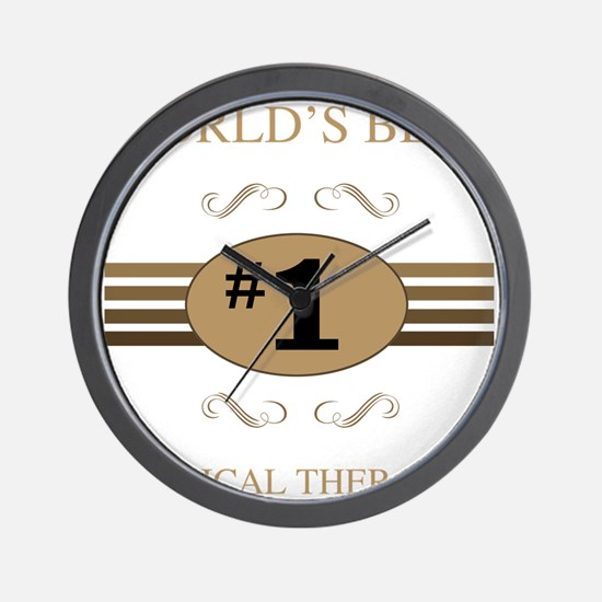 World's Best Physical Therapist Wall Clock