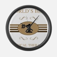 World's Best Physical Therapist Large Wall Clock