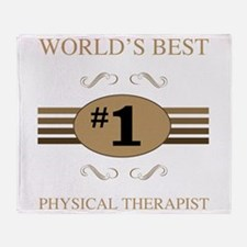 World's Best Physical Therapist Throw Blanket