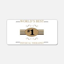 World's Best Physical Thera Aluminum License Plate