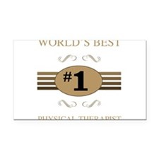 World's Best Physical Therapi Rectangle Car Magnet