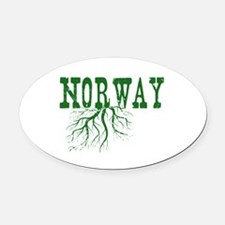 Norway Roots Oval Car Magnet