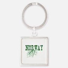 Norway Roots Square Keychain