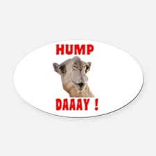 Hump Day Oval Car Magnet