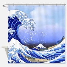 Surf's Up! Hokusai Great Wave Shower Curtain