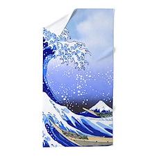 Surf's Up! Hokusai Great Wave Beach Towel