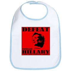 Defeat Comrade Hillary Bib