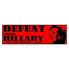 Defeat Comrade Hillary Bumper Bumper Sticker