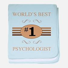 World's Best Psychologist baby blanket