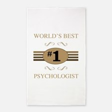 World's Best Psychologist 3'x5' Area Rug